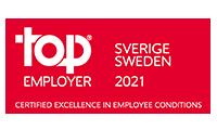 Top Employer Sweden 2021