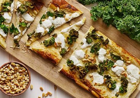 Snabbt & enkelt pizza med grönkål