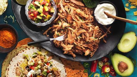 Pulled fajitaturkey