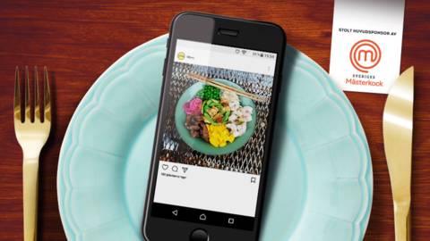 Pokébowl - med entrecote, räkor och färgsprakande topping