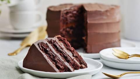 Vegansk chokladtårta