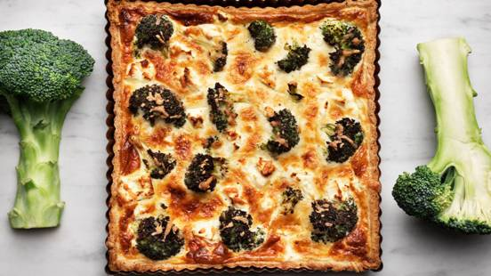 Broccoli- och fetaostpaj