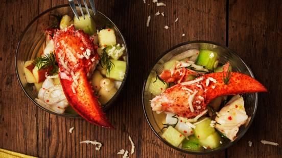 Ceviche på hummer och kammussla