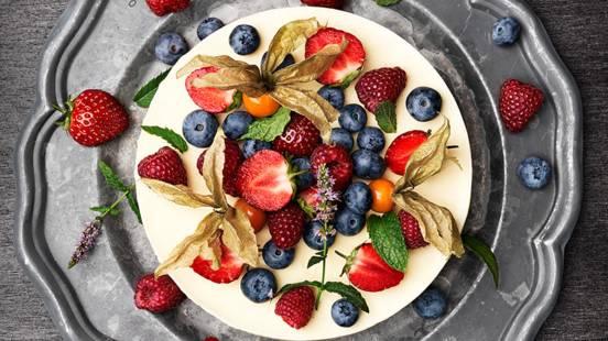 Somrig frusen cheesecake