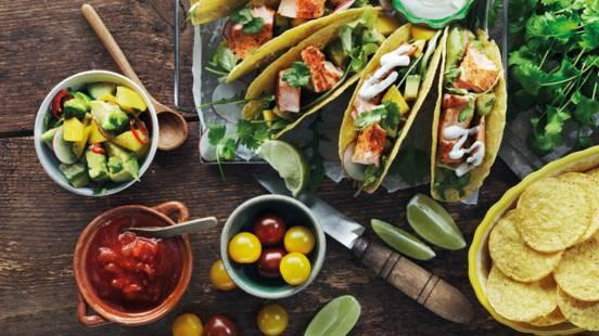 Fishtaco med mango & avokadosalsa