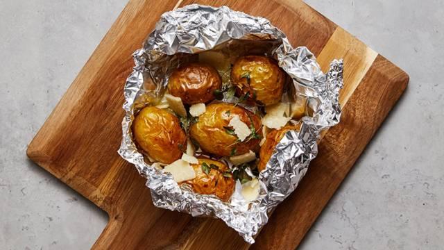 Potatispaket i ugn