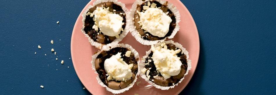 Blåbärskladdkaka med vit choklad