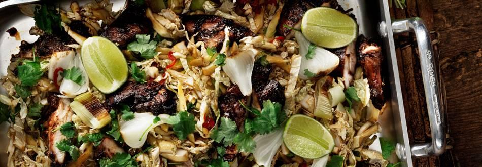 Kycklinglårfilé med smak av Asien