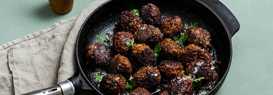 Vegetariska köttbullar med julsmaker