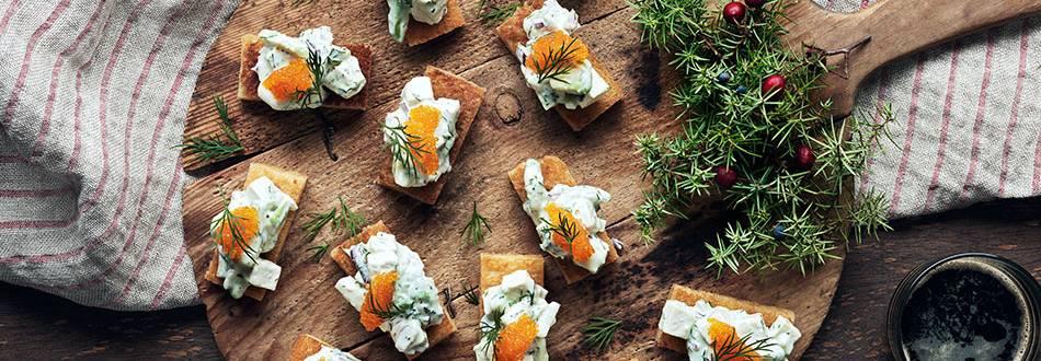 Vegetarisk röra Skagen-style
