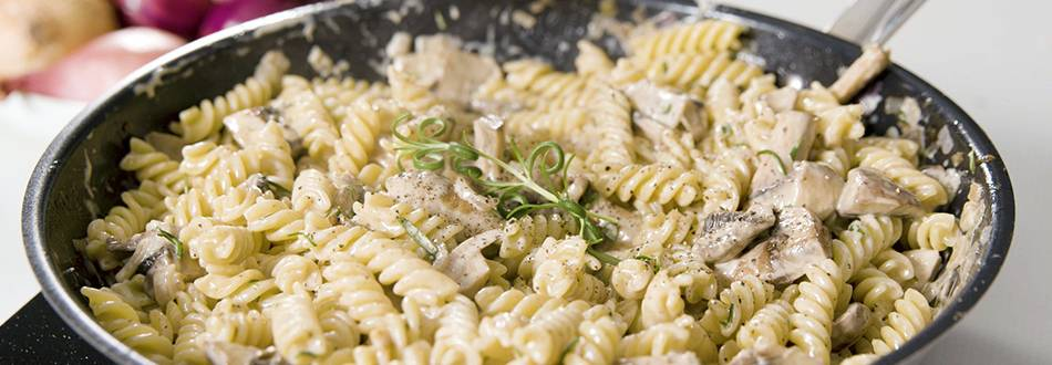 Krämig svamppasta med pecorino