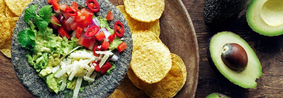 Guacamole med cheddarost