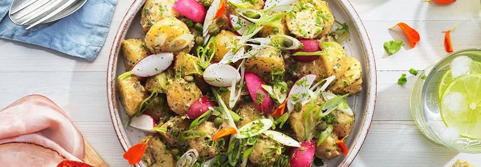 Potatissallad med senapsvinägrett
